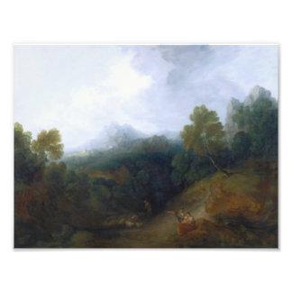 Thomas Gainsborough - paisagem com um rebanho Impressão De Foto