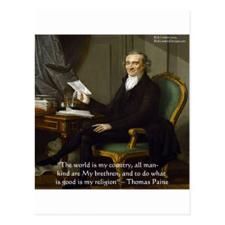 """Thomas Paine dos """"presentes & cartões das citações"""