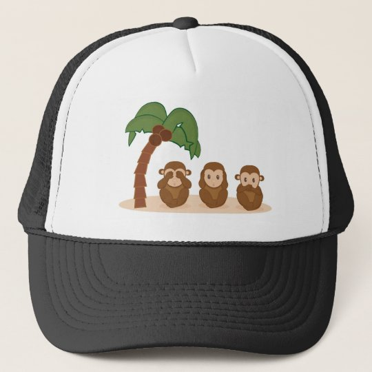 Three little monkeys - três macaquinhos boné