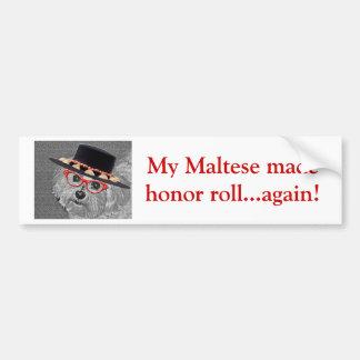 Thumbellina é meu nome que eu sou um maltês bonito adesivo para carro