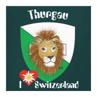 Thurgau Suíça Switzerland linho Impressão De Canvas Envolvidas