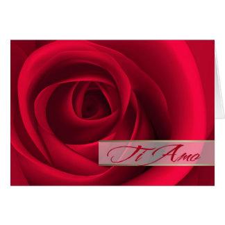 Ti Amo. Cartão italiano do dia dos namorados