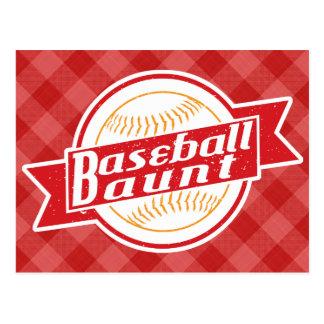 Tia cartão do basebol