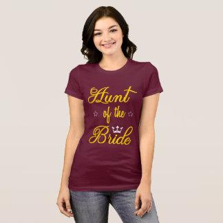 Tia da camisa da noiva