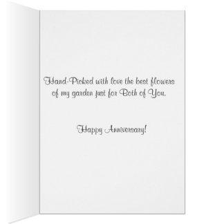 Tia do aniversário do cartão & tio felizes Rosa