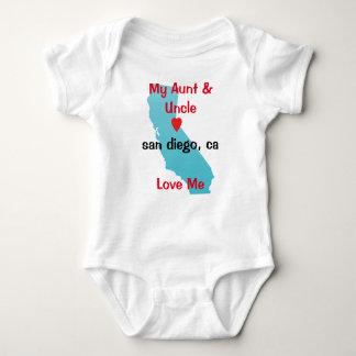 Tia e tio Bebê Roupa-Meu tio e tia Amor Body Para Bebê