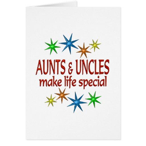 Tia e tio especiais cartões