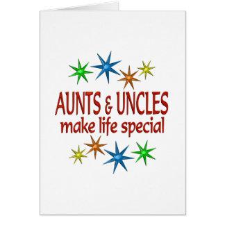 Tia e tio especiais cartão comemorativo