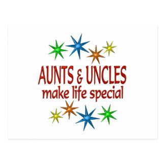 Tia e tio especiais cartão postal