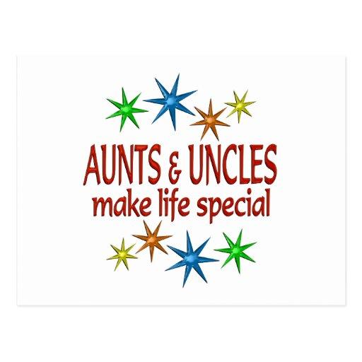 Tia e tio especiais cartoes postais