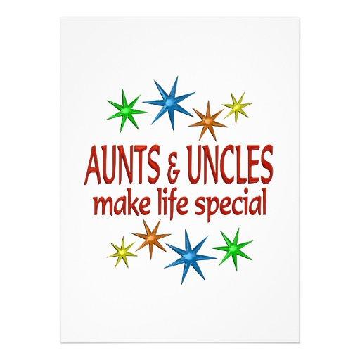 Tia e tio especiais convite
