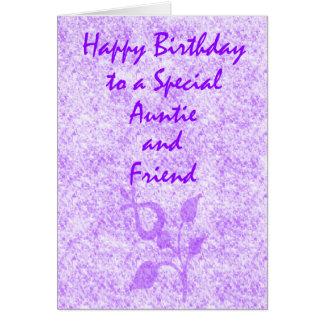 Tia especial Aniversário Cartão Comemorativo