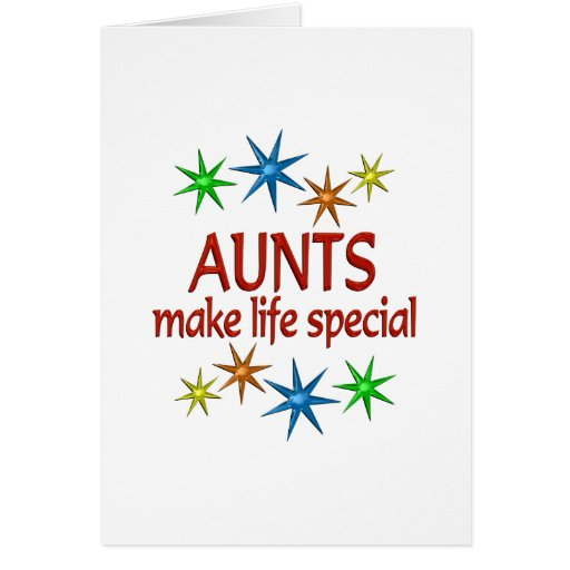 Tia especial cartão