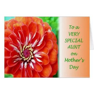 Tia especial dia das mães cartão comemorativo