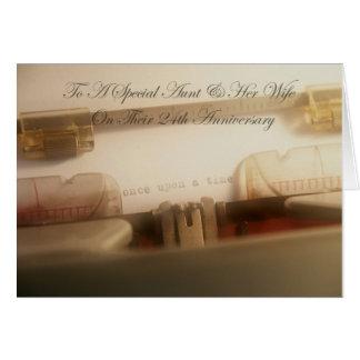 Tia & esposa especiais em nosso 24o cartão do aniv