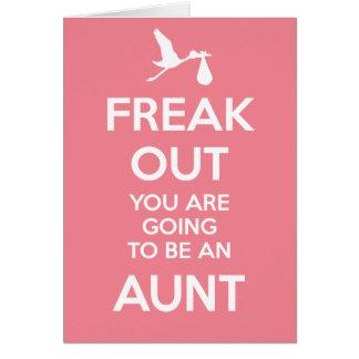 Tia nova Gravidez Anúncio Cartão Comemorativo