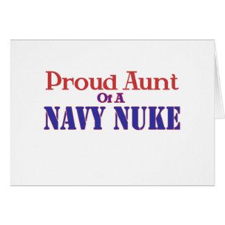 Tia orgulhosa de umas armas nucleares do marinho cartão