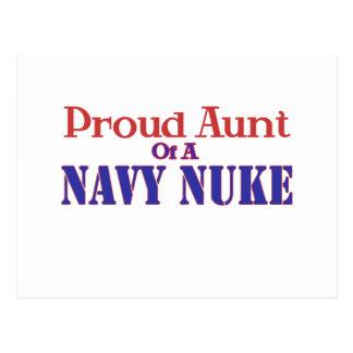 Tia orgulhosa de umas armas nucleares do marinho cartoes postais