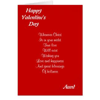 Tia religiosa do dia dos namorados cartão comemorativo