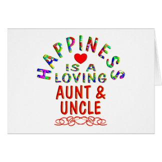 Tia & tio Felicidade Cartoes