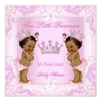 Tiara do chá de fraldas da princesa Cor-de-rosa Convite Quadrado 13.35 X 13.35cm