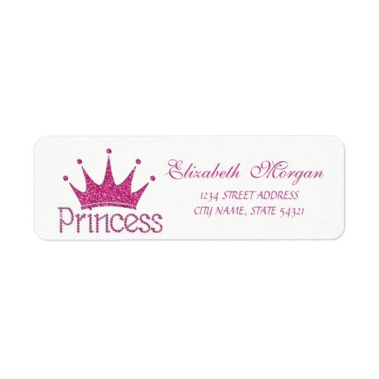 Tiara Glittery feminino bonito, etiqueta da Etiqueta Endereço De Retorno