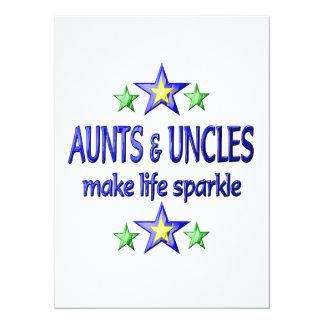 Tias e faísca dos tios convites personalizado