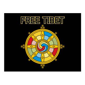 Tibet livre Dharmacakra Cartão Postal
