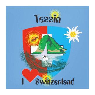 Ticino Suíça Suisse Svizzera Svizra linho Impressão Em Tela