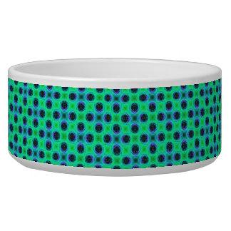 Tigela Abstrato geométrico azul roxo verde