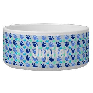 Tigela Alguma bacia azul louca conhecida do cão das patas