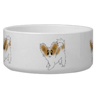 Tigela Alimento para cães de Papillon do filhote de cacho