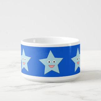 Tigela Bacia azul brilhante do pimentão da estrela da