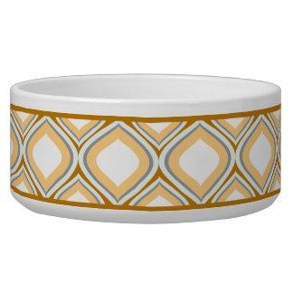 Tigela Bacia cerâmica do cão de Brown Ogee do caramelo