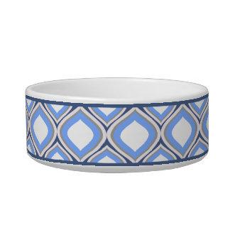 Tigela Bacia cerâmica pequena azul do cão de Ogee da