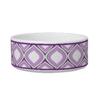Tigela Bacia cerâmica pequena roxa do cão de Ogee