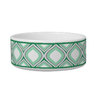 Tigela Bacia cerâmica pequena verde do cão de Seafoam