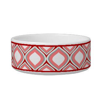 Tigela Bacia cerâmica pequena vermelha do cão de Ogee do