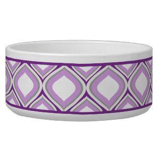 Tigela Bacia cerâmica roxa do cão de Ogee