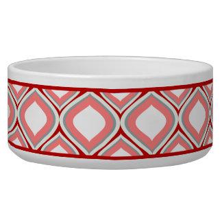 Tigela Bacia cerâmica vermelha do cão de Ogee do arando