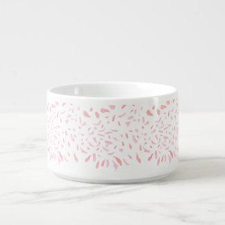 Tigela Bacia cor-de-rosa de flutuação do pimentão das
