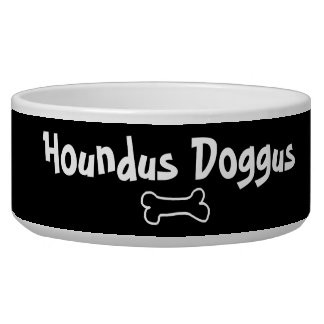 Tigela Bacia customizável do cão de Houndus Doggus para o