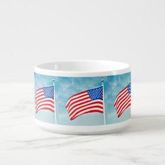 Tigela Bacia do pimentão da bandeira americana