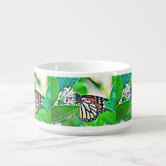 Tigela Bacia do pimentão da borboleta de monarca