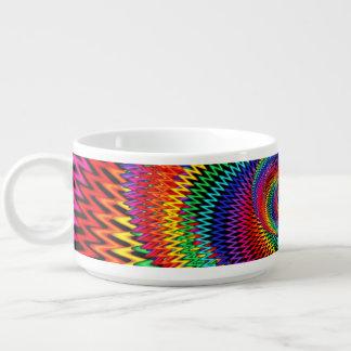 Tigela Bacia ondulada do pimentão do Fractal do arco-íris