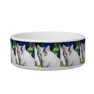 Tigela Bacia personalizada da comida de gato da foto