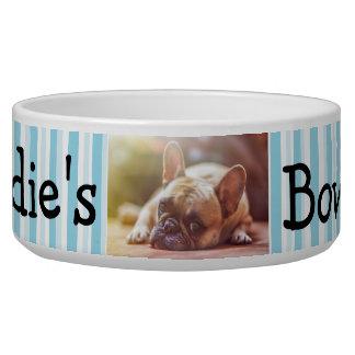 Tigela Bacia personalizada do cão da foto