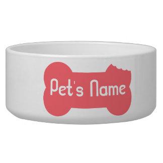 Tigela Bacia personalizada osso mastigada rosa 5 do cão