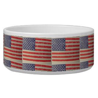 Tigela Bandeira americana resistida, afligida dos EUA