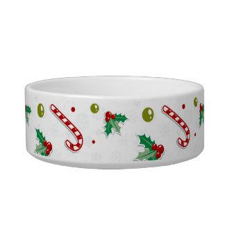 Tigela Bastões de doces, visco, e árvores de Natal